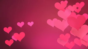 Lovely heart-shaped beat interlaced stock video footage