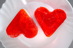 Lovely Heart-Shaped Cakes Royalty Free Stock Photography