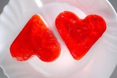 Lovely Heart-Shaped Cakes Royalty Free Stock Photography