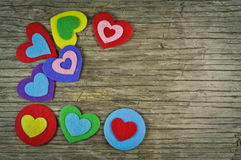 Lovely hearts Stock Photo