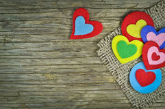 Lovely hearts Stock Image