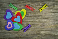 Lovely hearts Stock Photos