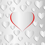 Lovely hearts background Royalty Free Stock Image