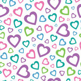 Lovely hearts background Royalty Free Stock Photography