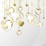 Lovely hearts background Stock Photography