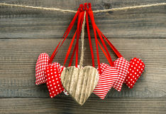 Lovely hearts decoration. Valentines Day concept Royalty Free Stock Photos
