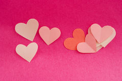Lovely hearts Stock Photography