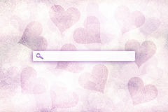 Lovely hearts with search toolbar background Royalty Free Stock Images