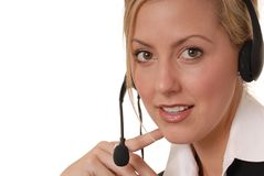 Lovely Help Desk Lady 2 Royalty Free Stock Image