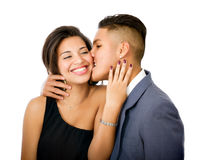 Lovely hispanic couple Stock Photos
