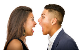 Lovely hispanic couple Royalty Free Stock Image