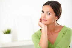 Lovely hispanic female looking elegant indoor Royalty Free Stock Images