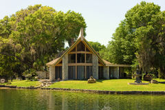 A lovely home on the waterfront in florida Royalty Free Stock Images