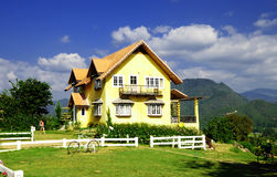 Lovely house. Big House / Colorfull House at PAI in Thailand Stock Image