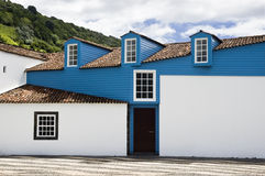 Lovely house. House with traditional lofts, Azores Royalty Free Stock Photo