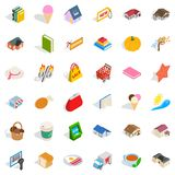 Lovely icons set, isometric style Royalty Free Stock Image