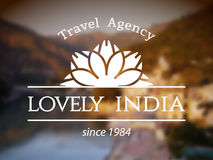 Lovely India logo template Stock Photo
