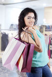 Lovely indian model in the mall Royalty Free Stock Image