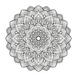 Lovely mandala for adult coloring books Stock Photo