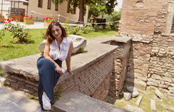 Lovely Italian girl Royalty Free Stock Photography