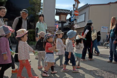 Lovely Japanese kids, Takayama, Japan Stock Photography