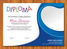 Lovely Kid Diploma - Certificate. Preschool / kindergarten Lovely Kid Diploma - Certificate template design with cute and adorable color design, suitable and Royalty Free Stock Images