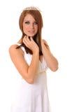 Lovely lady wearing a Tiara Stock Image