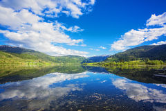 Lovely lake in Norway Stock Images