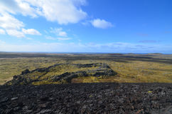 Lovely Landscape Surrounding Eldborg Crater Royalty Free Stock Image