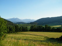 Lovely landscape. The view on mountains and nature in Austria Royalty Free Stock Image