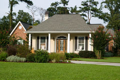 Lovely Landscaped Home. Nice family home with lush landscaping Stock Image