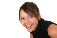 Lovely Latino Woman. Very Cute Image of a Latino Woman on White Stock Photos