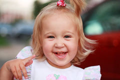 Lovely laughing girl Royalty Free Stock Photos