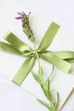 Lovely lavender letter Stock Photos
