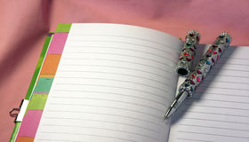 Lovely Letter. Love pen and note book Stock Photography