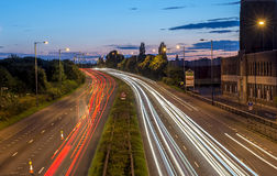 Lovely light trails Royalty Free Stock Photography