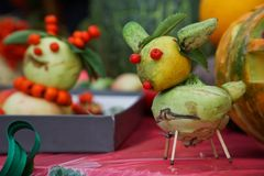 Lovely little animals from vegetables. stock photography