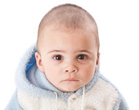 Lovely little boy. Isolated on white Royalty Free Stock Image