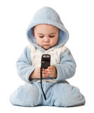 Lovely little boy with phone Royalty Free Stock Photo