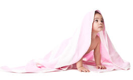 Lovely little boy in towel Royalty Free Stock Photography