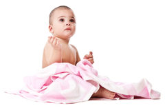Lovely little boy in towel Stock Photos
