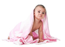 Lovely little boy in towel Royalty Free Stock Image