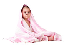 Lovely little boy in towel Stock Photography