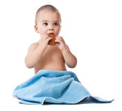 Lovely little boy in towel Royalty Free Stock Photos