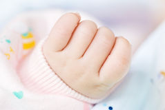 Lovely little clenched hand Royalty Free Stock Images