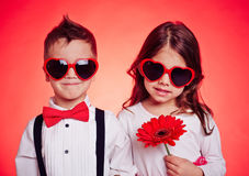 Lovely little couple Royalty Free Stock Photo