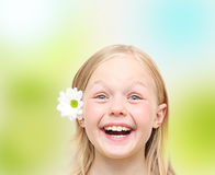 Lovely little girl. Stock Photo