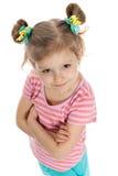Lovely little girl against the white Stock Image