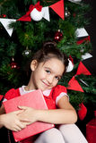 Lovely little girl at Christmas time Royalty Free Stock Image