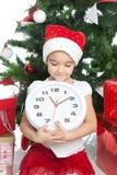 Lovely little girl at Christmas time Stock Photo